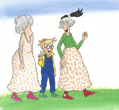 Kuggur, Málfríður og mamma Málfríðar