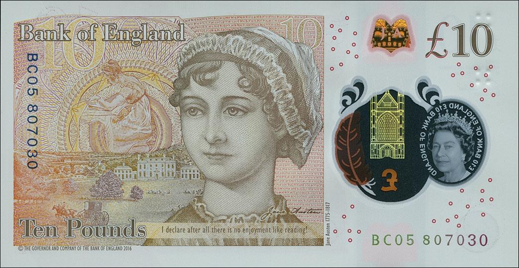 Jane Austen 10 pund