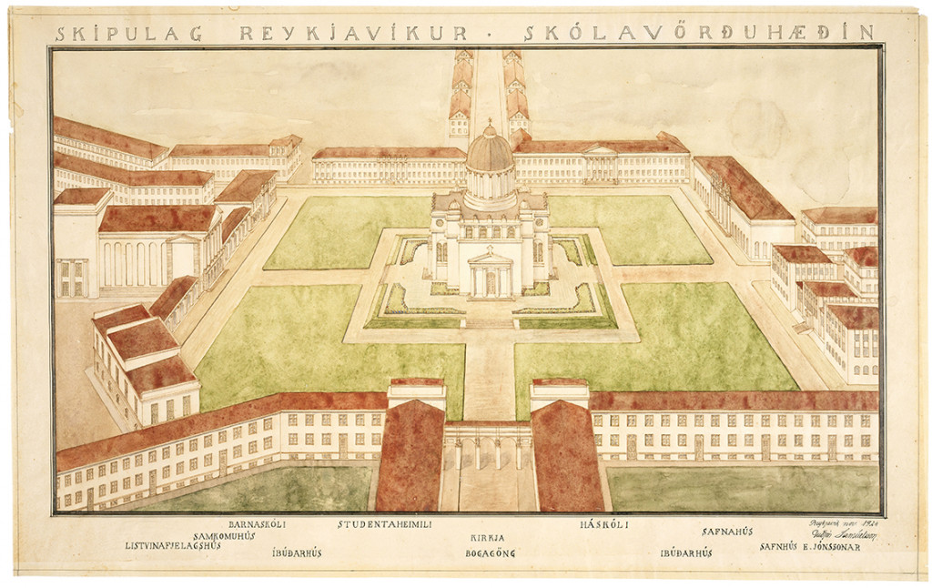 Skipulag Reykjavíkur – Skólavörðuhæðin, 1924